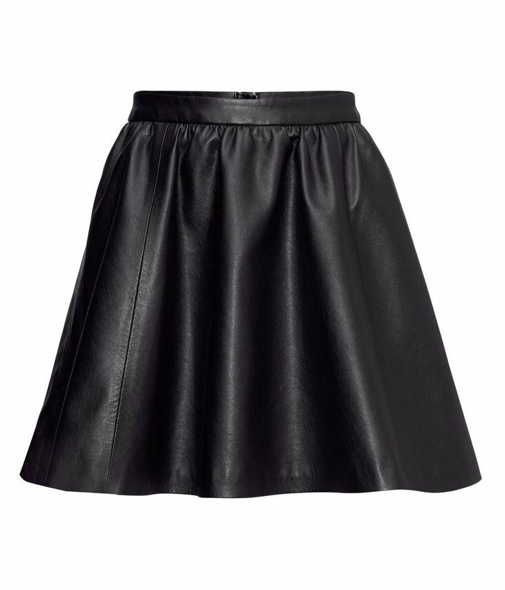 imitation leather skirt hm skirts
