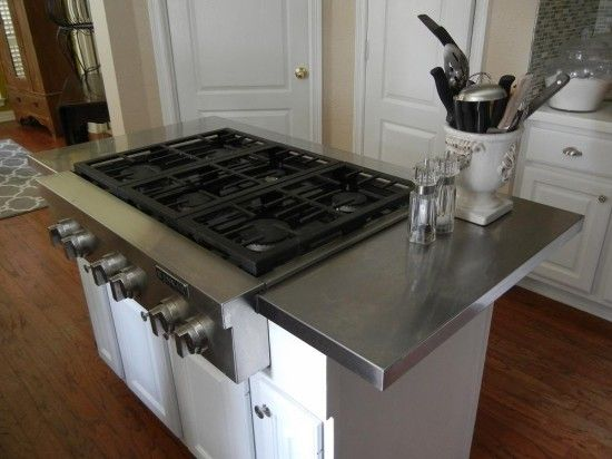 Hack an affordable Stainless Steel Kitchen Island Countertop - IKEA