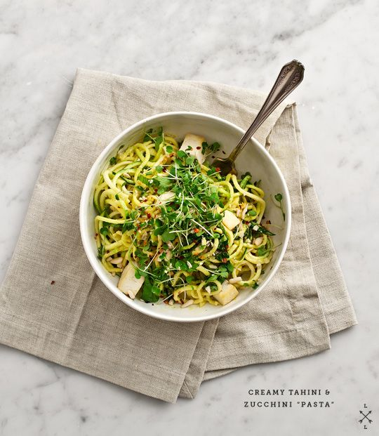 "tahini zucchini ""pasta"" #loveandlemons | edible and potable | Pinte..."