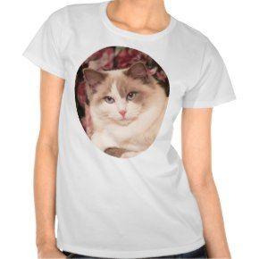 Beautiful Blue Bicolor Ragdoll T ShirtSeal Pointed Ragdoll Cat Tshirts