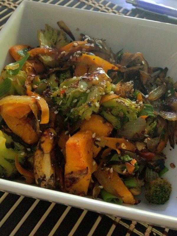 Butternut Squash & Shiitake Mushroom Stir-Fry