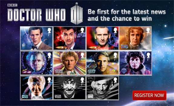 uk royal mail doctor who 50th anniversary stamps