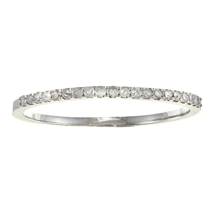 10k Gold 1 8ct TDW Diamond Thin Wedding Band G H I1 I2