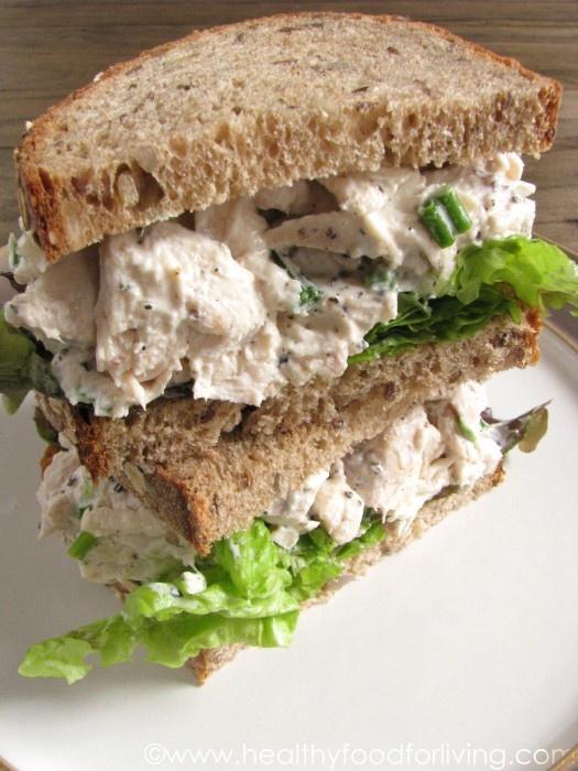 Lightened Up Chicken Salad Sandwiches. Great idea of using Greek ...