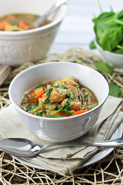 Turkey Soba Noodle Soup | by Sonia! The Healthy Foodie
