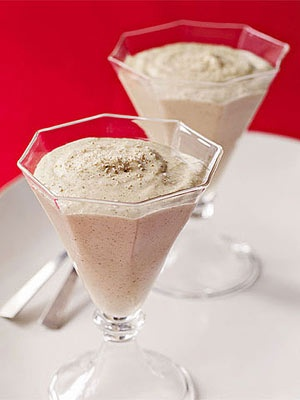 Eggnog Mousse. It is probably a heart attack in a glass but looks ...