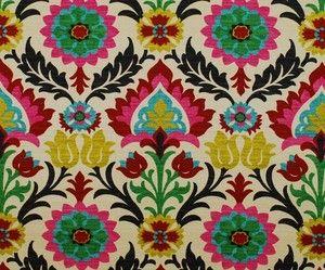 Waverly Fabric Santa Maria Desert Flower Suzani Curtain Fabric | eBay