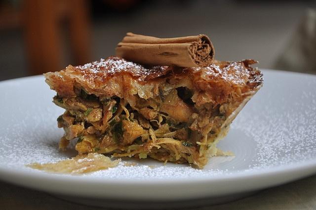 Moroccan-Style Chicken Pie (B'stilla) by Turntable Kitchen, via Flickr