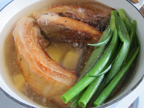 Japanese Braised Pork Belly being cooked | Tempting | Pinterest