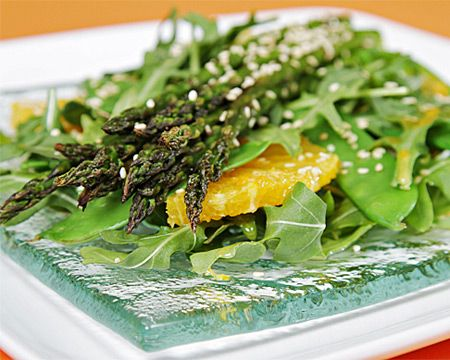 Roasted Asparagus Salad with Ginger-Citrus Vinaigrette