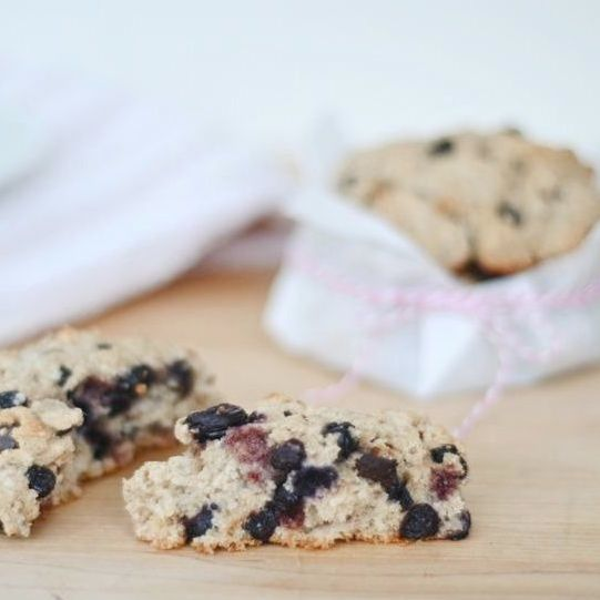Honey We're Healthy: Blueberry Almond Scones made with Coconut oil ...