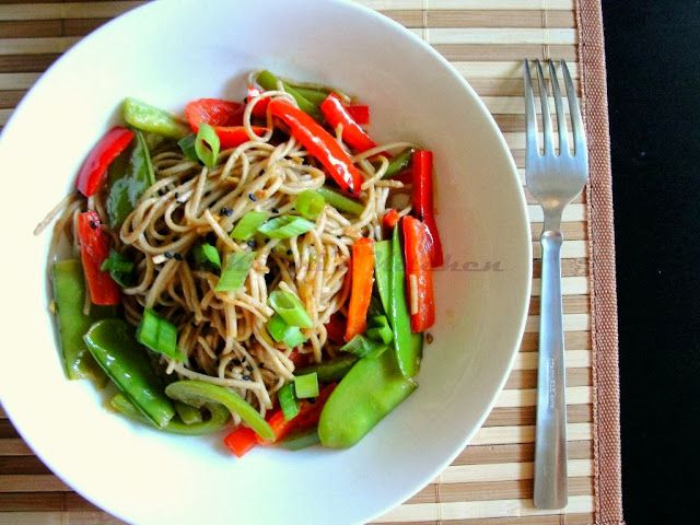 Krithi's Kitchen: Soba Noodles Vegetable Stir Fry