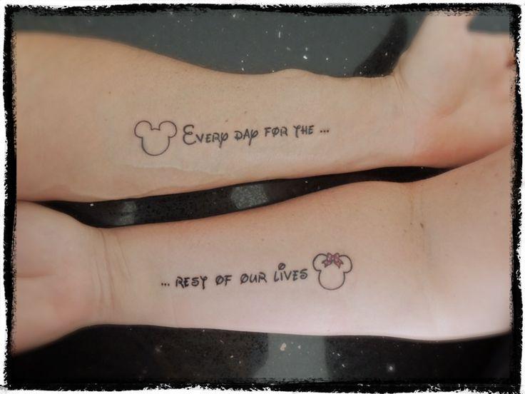 Disney Themed Couple Tattoos | Disney tattoo ideas | Pinterest