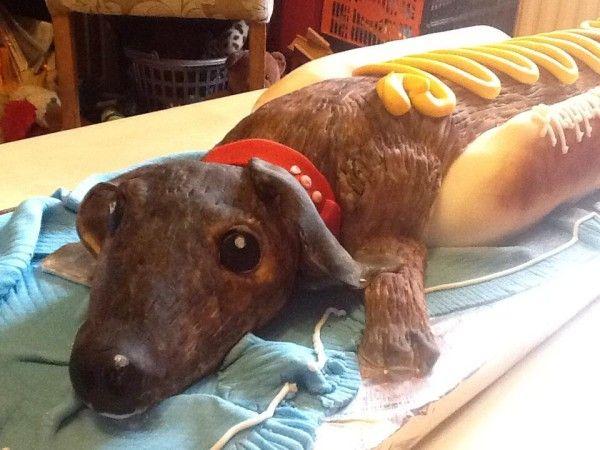 Hotdog Dog... A huge sausage dog cake. Cake obsession ...