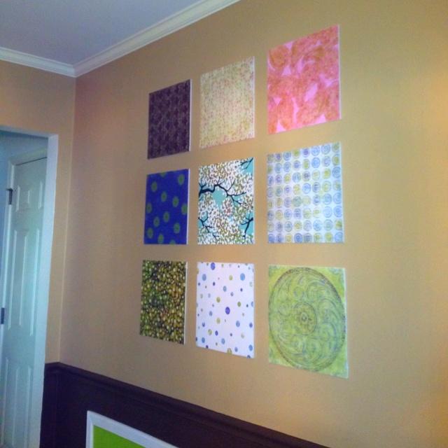 Wall Decor With Scrapbook Paper : Scrapbook paper wall art craft ideas