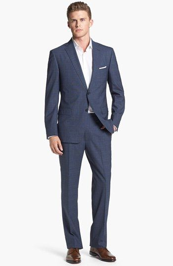 Navy Check Suit - Z Zegna Plaid Wool Suit available at #Nordstrom