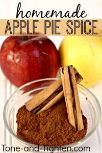Homemade Apple Pie Spice | HOMEMADE MIXES | Pinterest