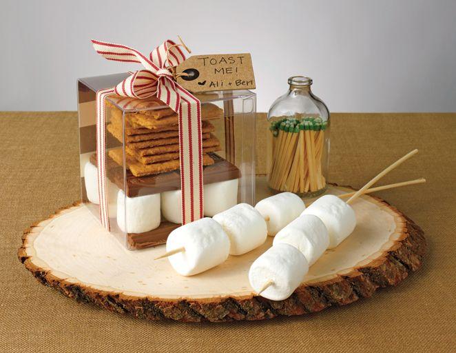 DIY wedding, smores kit, wedding favors, edible favors