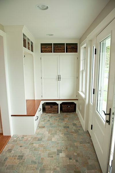 Mudroom stone tile floor mudrooms laundry pinterest Mudroom floor