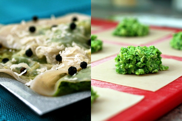Pea, parmesan, and mint wontons/raviolis | Finger food and appetizers ...