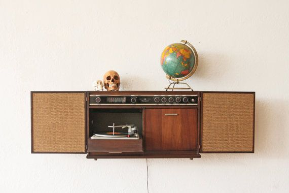 Record Player Solid State Stereo Cabinet