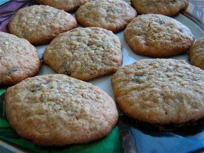 Gluten-free, dairy-free oatmeal raisin (or chocolate chip) cookies