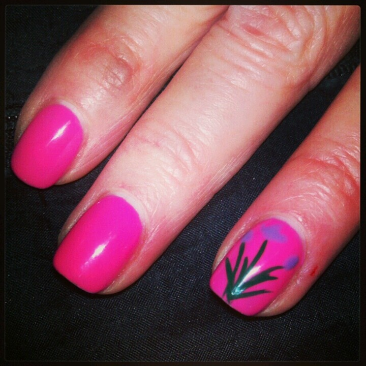 shellac Spring nails | Nails by me! #nailsbytracim | Pinterest