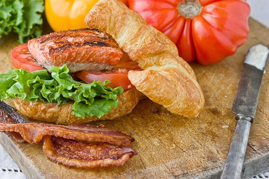 Smoky Salmon BLTs | Recipe