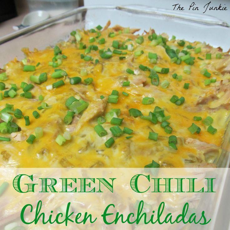 Southwest Green Chili Chicken Enchiladas | The Best Blog Recipes