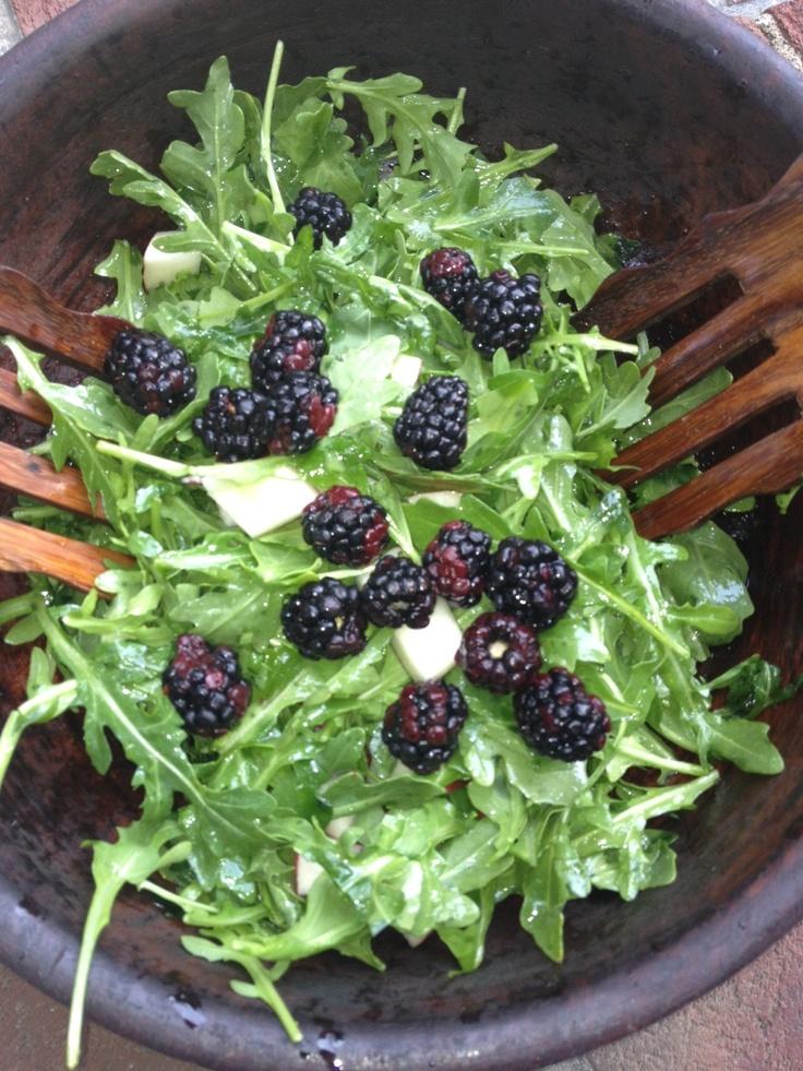 Savory Blackberry Nectarine Salad ~ | Healthy dishes | Pinterest