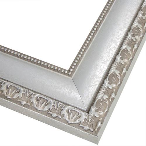 Bellemeade vintage silver - Mirror frame kits for bathroom mirrors ...
