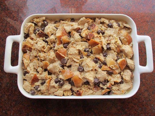 Challah Bread Pudding with Kahlua Cream Sauce | Recipe