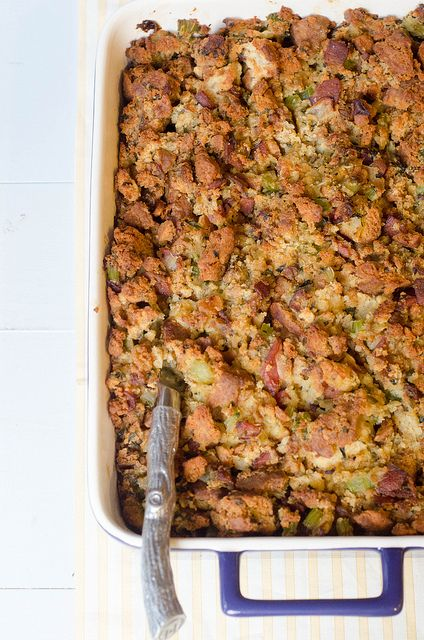Biscuit, bacon, and oyster dressing. | Recipes | Pinterest