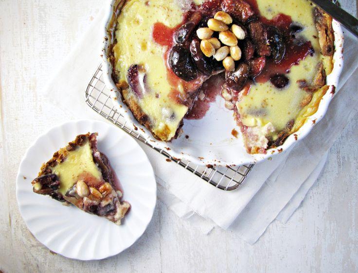 Fig and Almond Custard Tart | Fruit Desserts | Pinterest