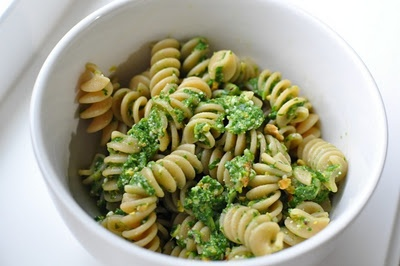 Pesto...still use pine nuts, though, not the pistachios. love pesto ...