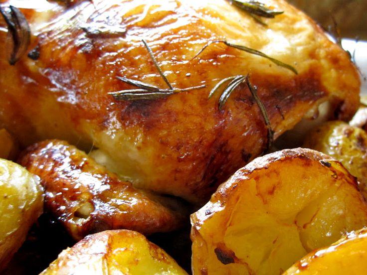... Citrus Roast Chicken (overnight marinade) with Roasted Potatoes
