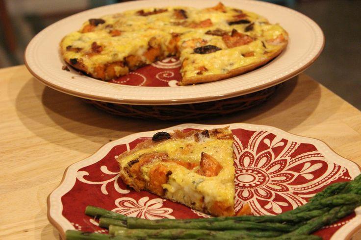 ... Sweet Potato Tortilla Española with Caramelized Onions and Gorgonzola