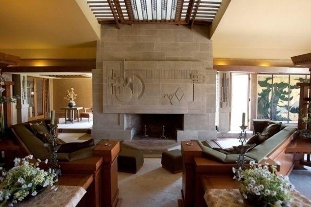 Hollyhock House Interior Frank Lloyd Wright Arts And