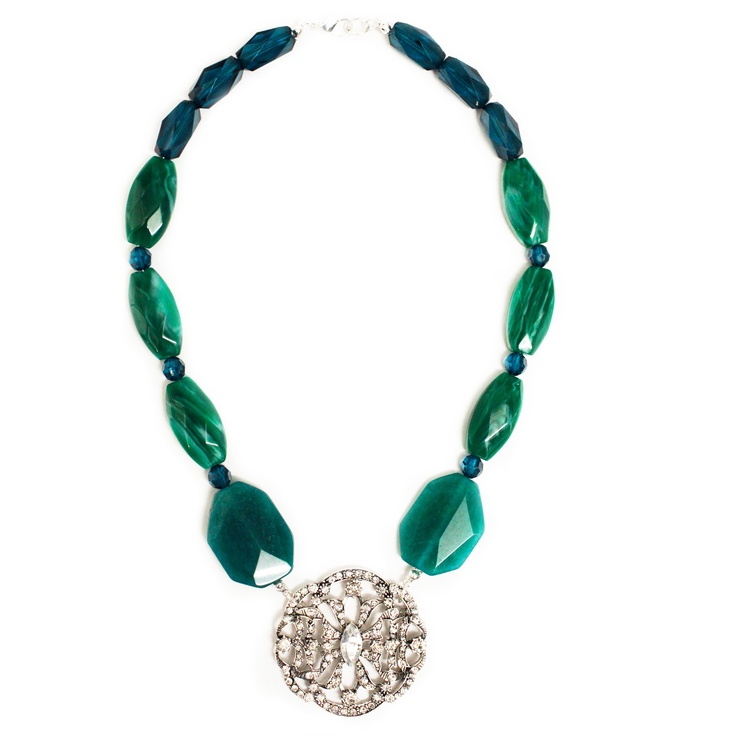 decadent filigree beaded necklace
