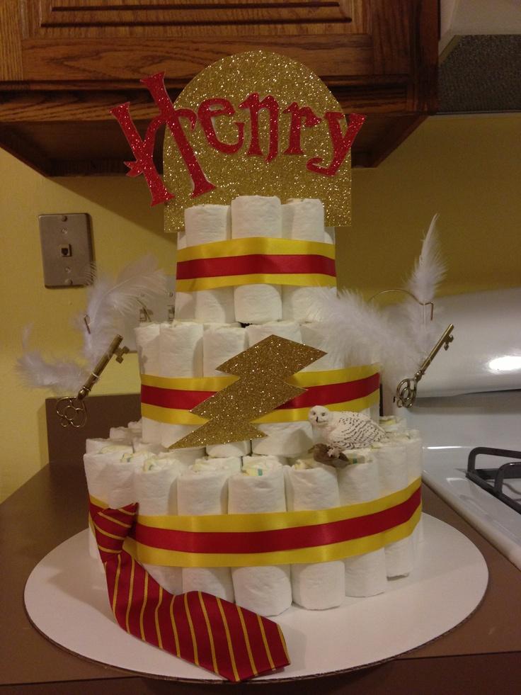 harry potter themed diaper cake diaper cakes pinterest