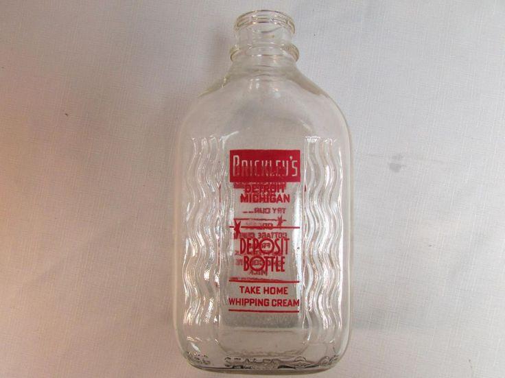 Vintage Brickley's Detroit Michigan 2QT Milk Whipping ...