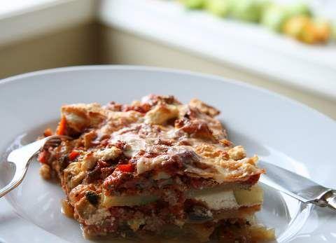 zucchini ribbon lasagna | Om nom nom | Pinterest
