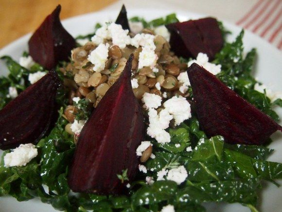 lentil salad and roasted beets | Food! Glorious Food! | Pinterest