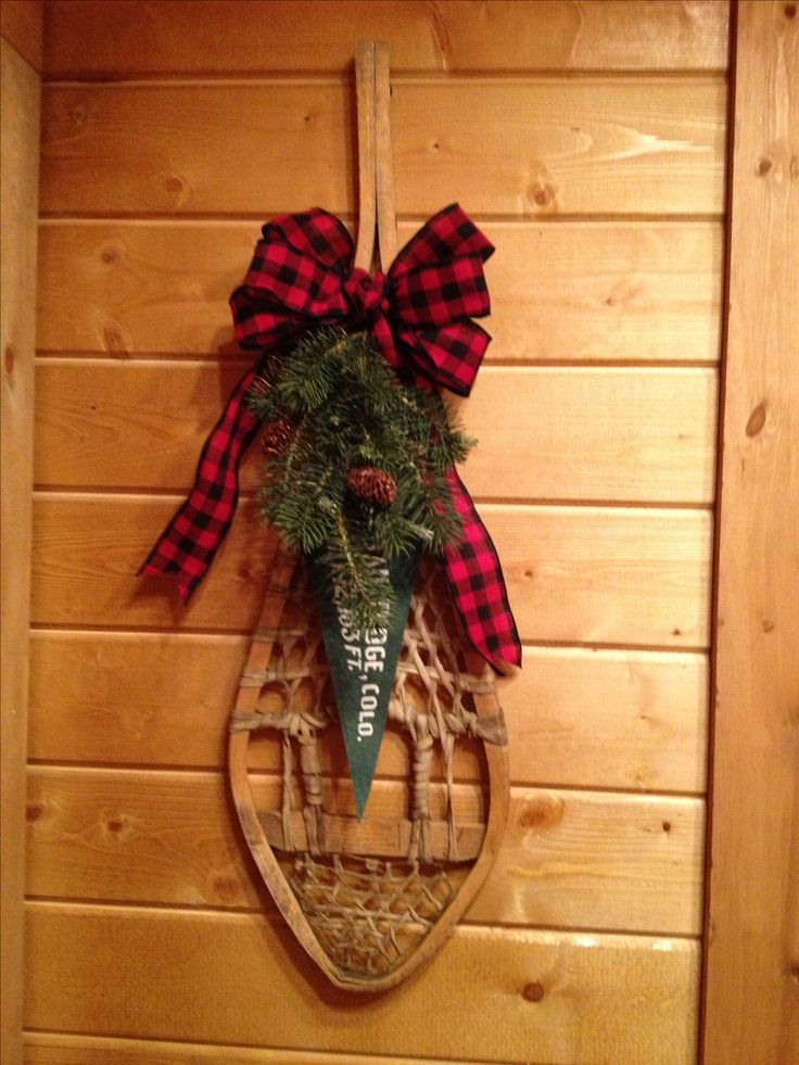 Snowshoe decor winter wonderland pinterest