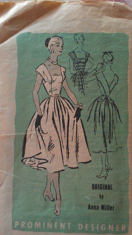 Prominent Designer A618, Anna Miller; Sz 16/Bust 34