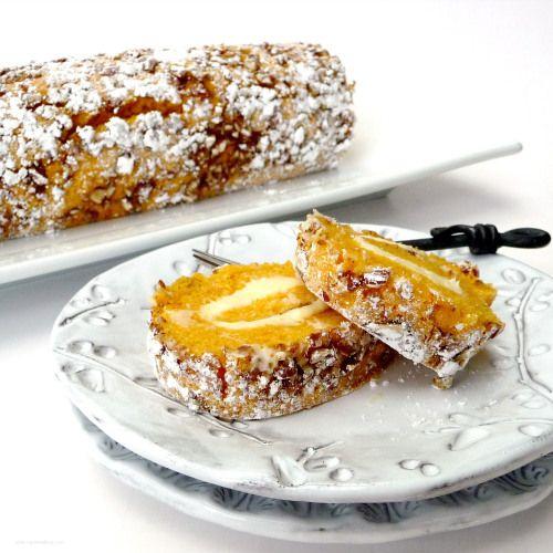 Pumpkin Pecan Roulade Tastefood Food Dessert