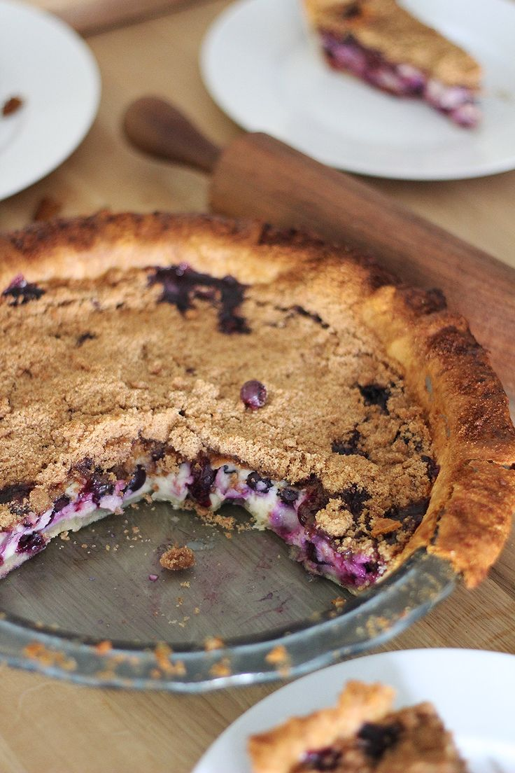 Blueberry Sour Cream Pie. Light, flaky, tender pastry filled with ...