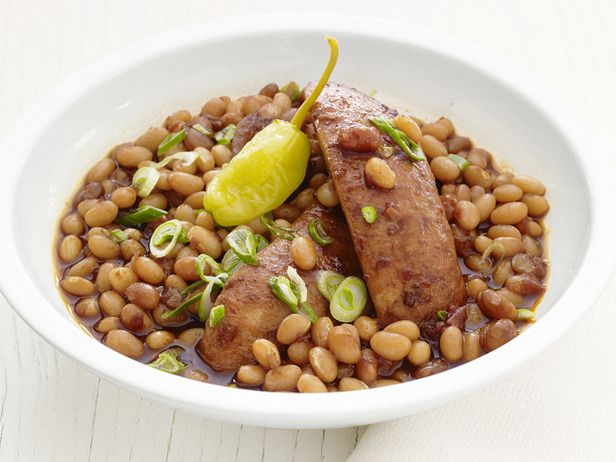 Slow-Cooker Barbecue Beans and Sausage | Crock Pot Cooking | Pinterest