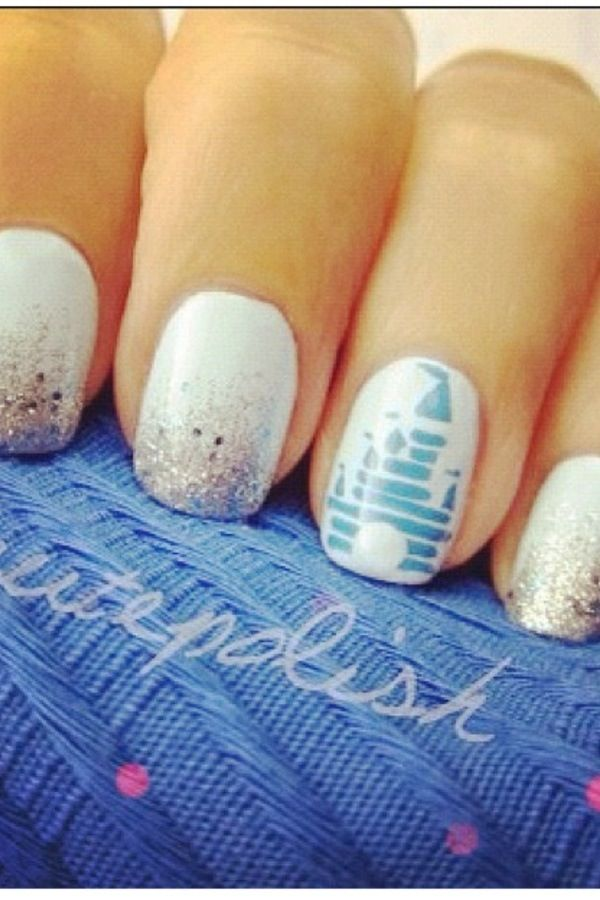 MickeyMeCrazy Disney castle nails | Disney Magic | Pinterest