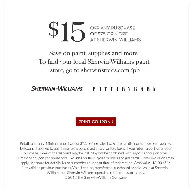 Pottery barn coupon code 15 off